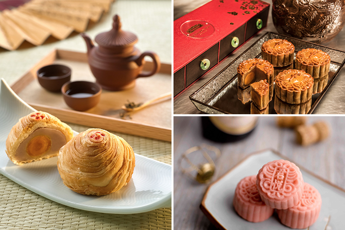 types of mooncakes