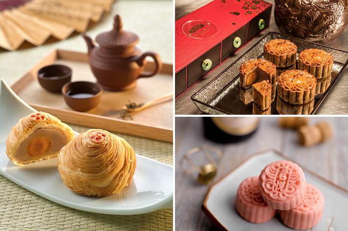 types of mooncakes
