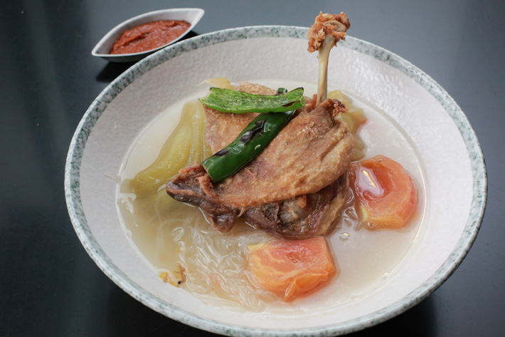 Sinpopo Salted Vegetable Duck Soup