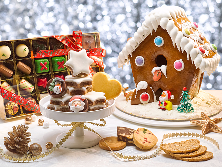 Festive Goodies - Gingerbread House and Cookies