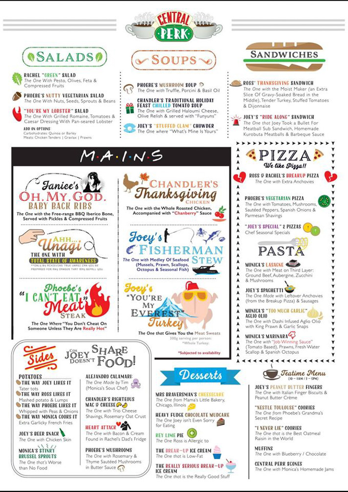 Friends Menu