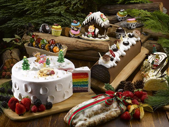 Park Hotel Clarke Quay Christmas Rainbow Cake & Desserts