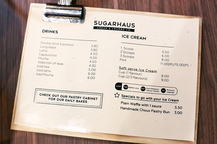 Sugar Haus Menu