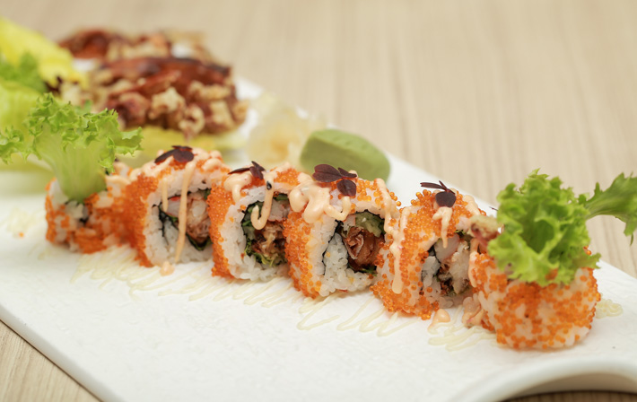 PARKROYAL Kitchener Soft Shell Crab Maki