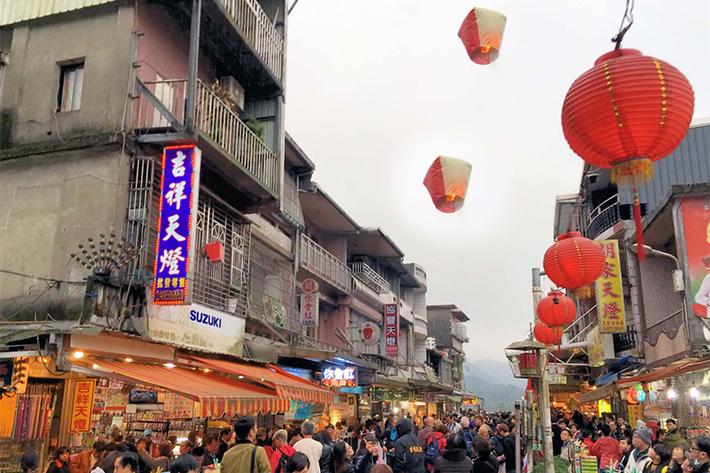 shifen sky lanterns