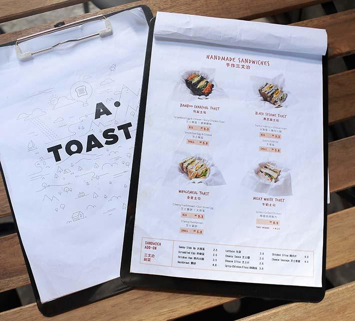 A.Toast Food Menu