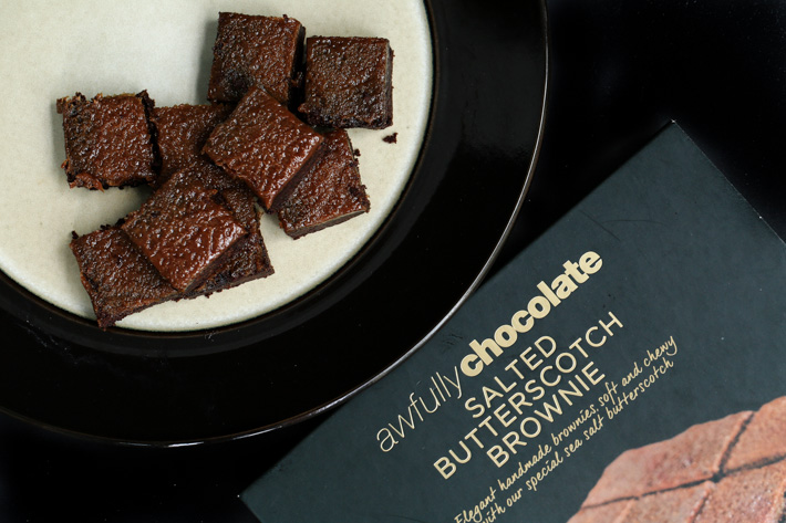 Awfully Chocolate Salted Butterscotch Brownie