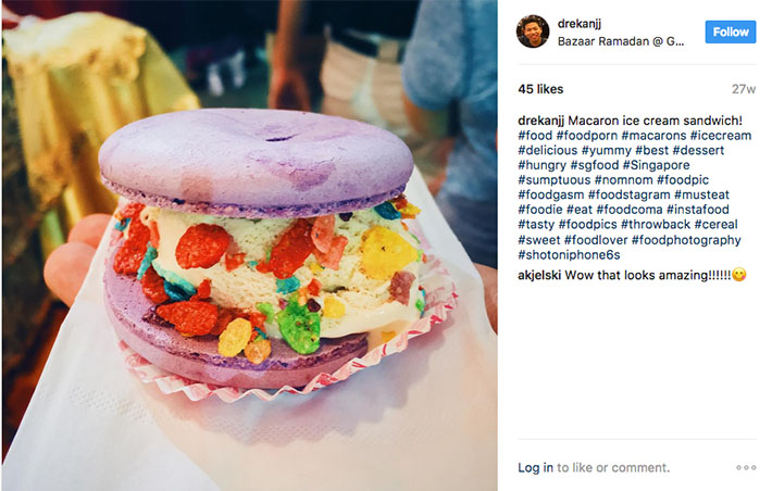 Rainbow Macaron Ice Cream Sandwich