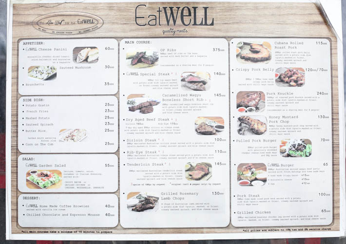Eat Well Menu