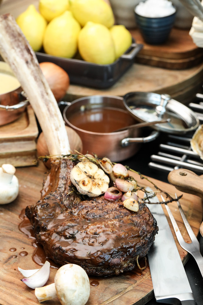 Pan Pacific Orchard Tomahawk steak