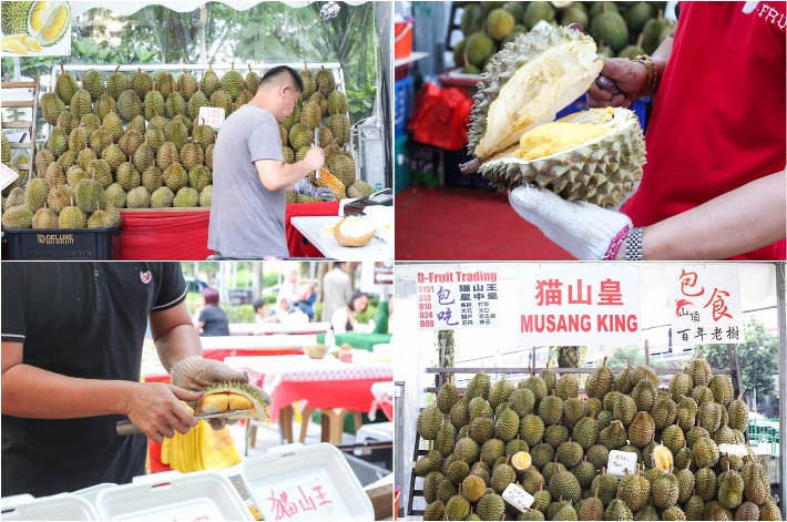 Durian Stalls