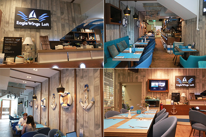 EagleWings Loft Interior Collage