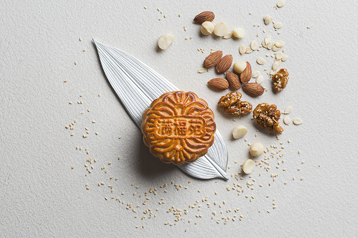 Baked Mooncake with Assorted Nuts
