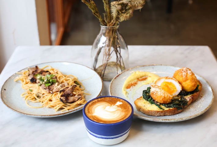 Blue Dye Cafe Food