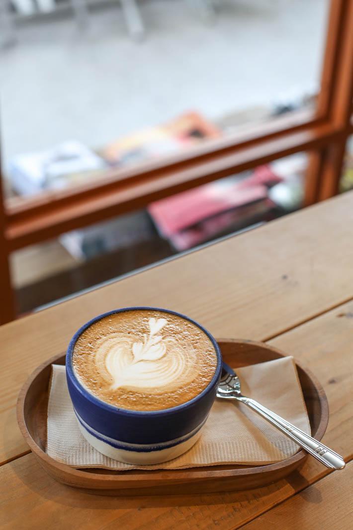 Blue Dye Cafe Latte