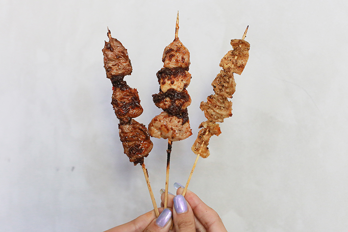 Chikin Chicken Skewers