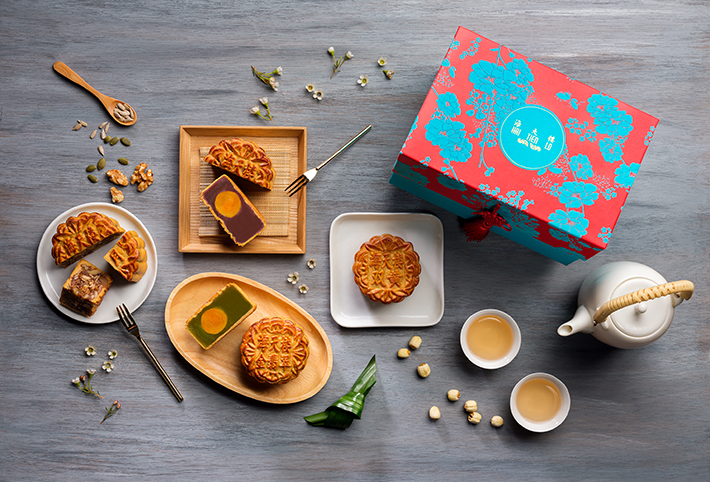 Hai Tien Lo Traditional Four Treasure Baked Mooncakes