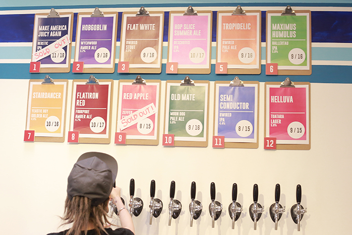Hustle Co Craft Beer Taps