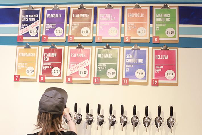 Hustle Co Craft Beer Taps