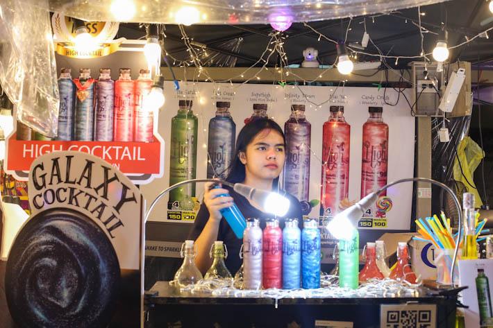 Talad Neon Galaxy Cocktail