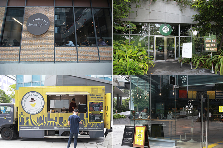 one-north cafe collage