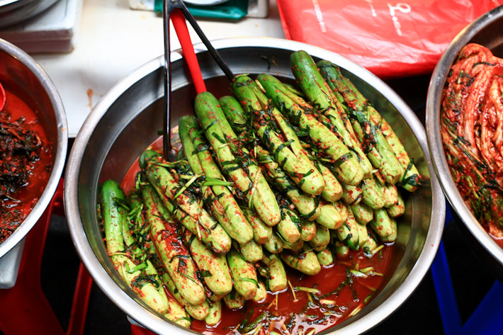Gwangjang Market Fresh Vegetables Section