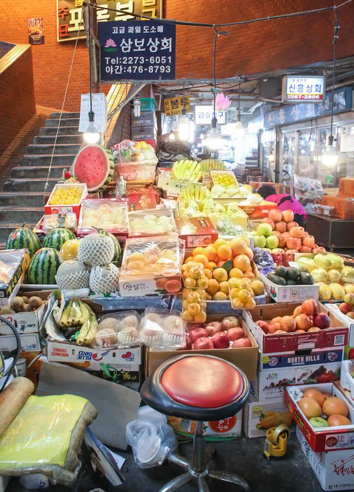 Gwangjang Market Fruits