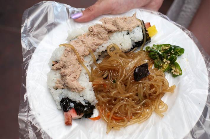Gwangjang Market Kimbap