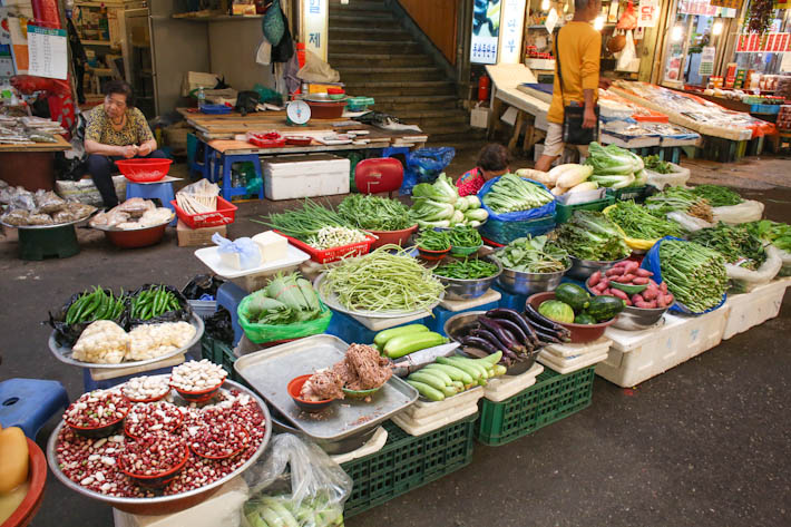 Gwangjang Market Vegetables