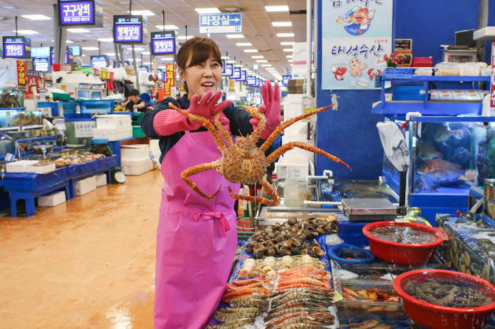 Noryangjin Fisheries King Crab