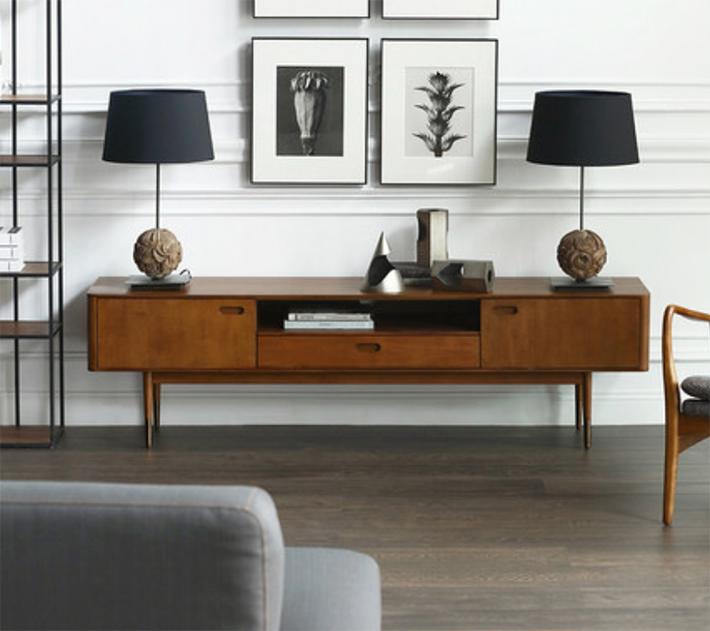 17 Scandinavian Wood TV Console