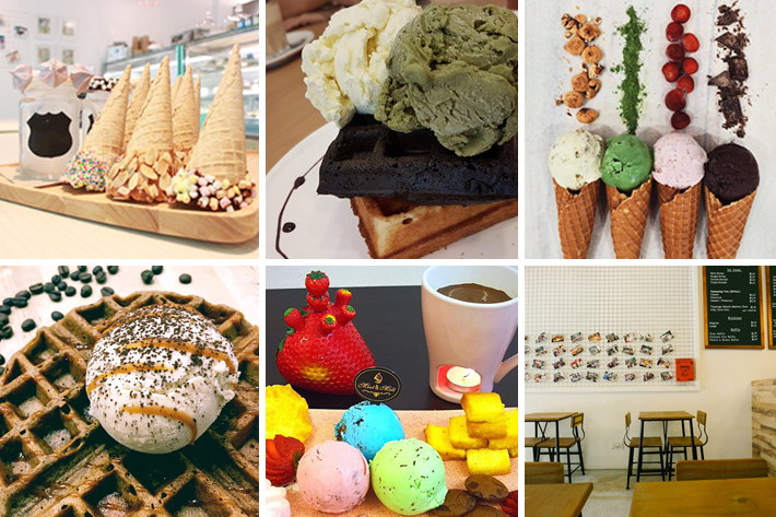 6 Ice Cream Cafes in Tampines Collage