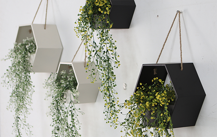 8 Geometric Rope Hanging Plant Holder