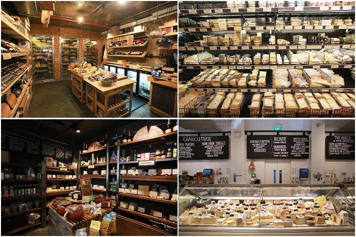 Cheese Stores Collage