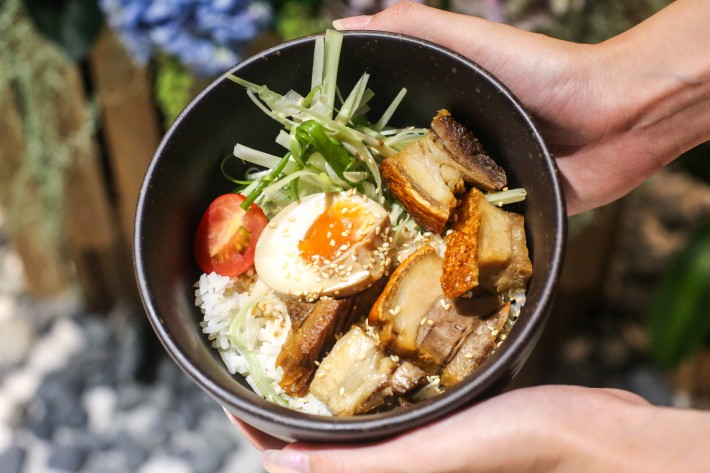 Coalesce - Roasted Pork Belly Rice Bowl with Ajitsuke Egg
