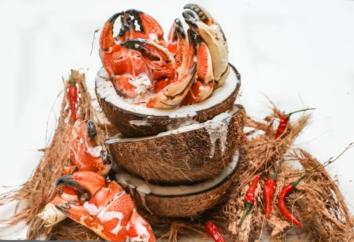 Ginger Crab with Coconut