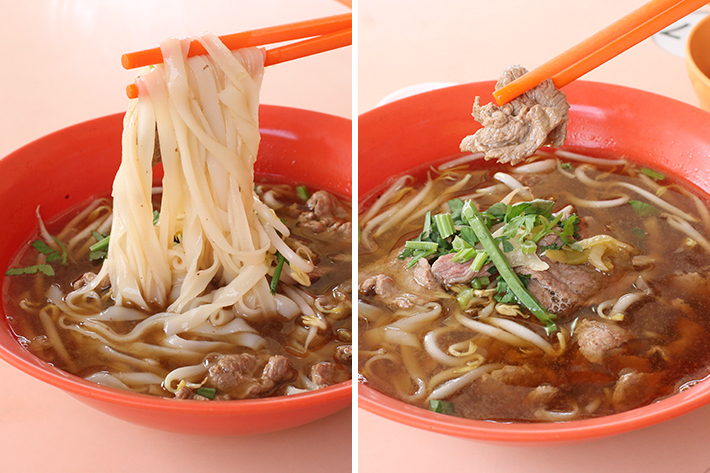 Hock Lam Street Popular Beef Kway Teow - Beef Noodle Soup Collage