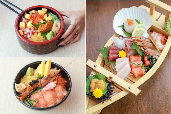 Tsukiji Fish Market Restaurant Sashimi & Don Collage