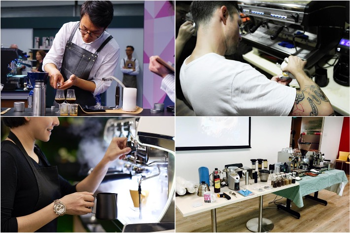 Coffee-Making Workshops Collage