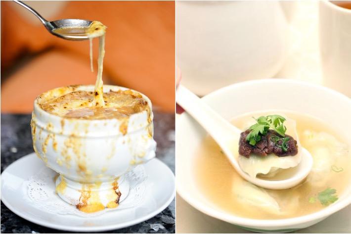 French Onion Soup vs Wanton Soup