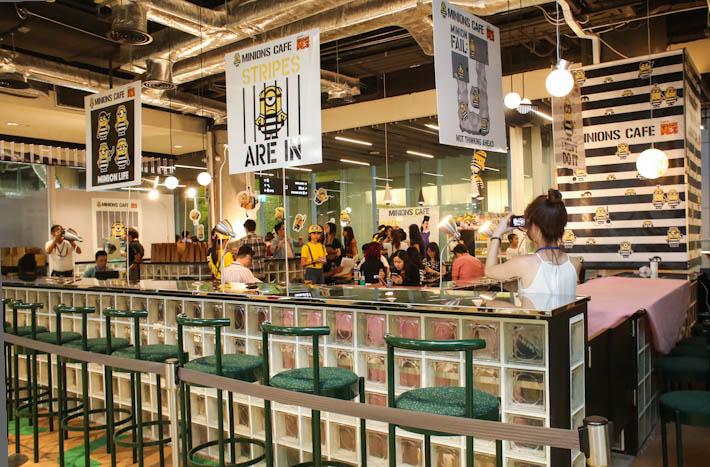 Minions Cafe Singapore Interior