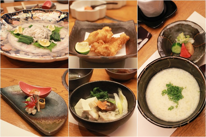 Oogami Fugu Dinner Collage