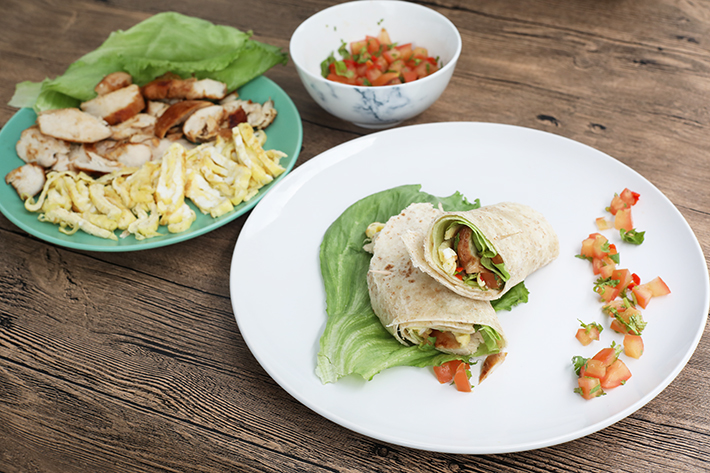 Chicken Wholemeal Wrap With Salsa