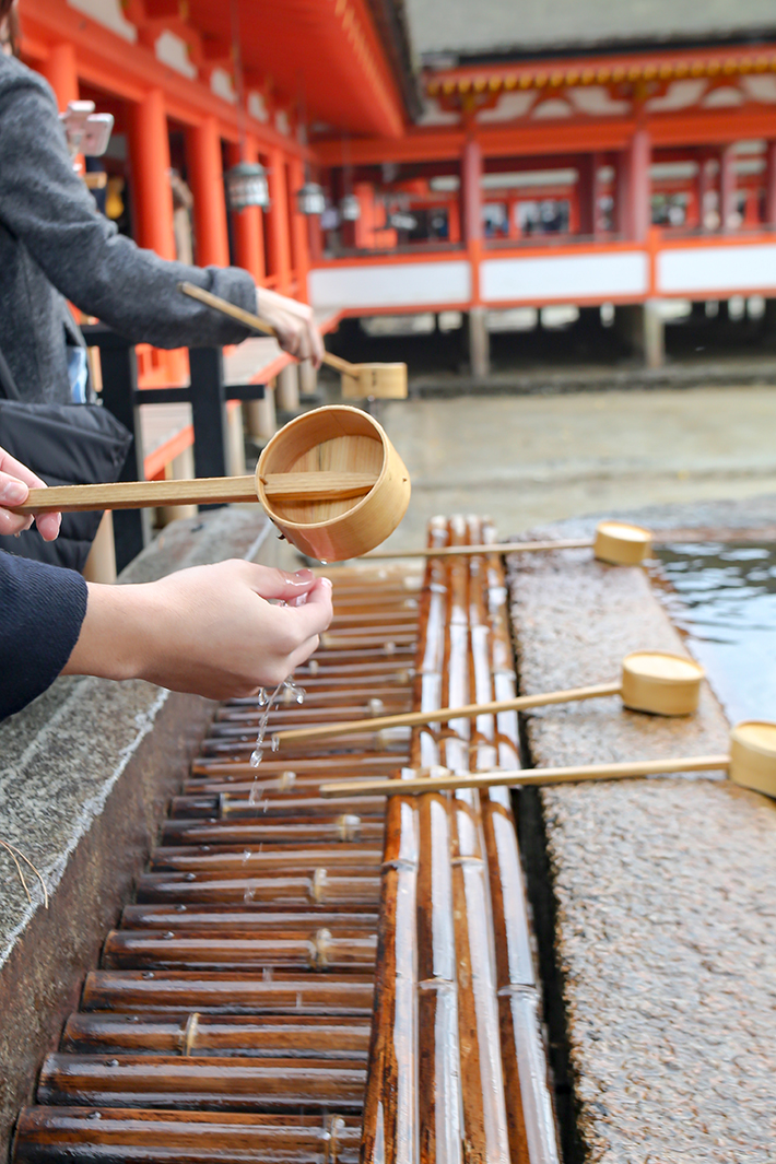 Itsukushima Shrine Hand-washing