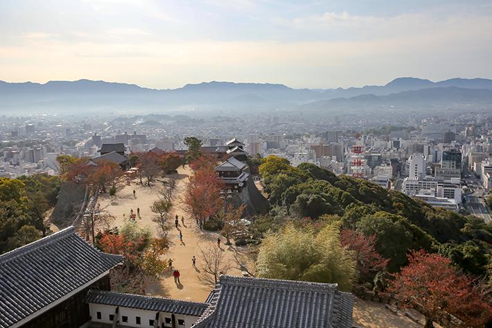 Matsuyama Castle Top-down View