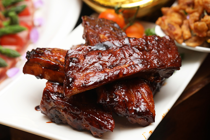 Ginger Barbecued Pork Ribs