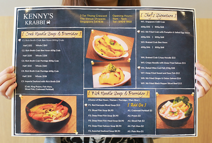 Kenny's Krabbi Menu