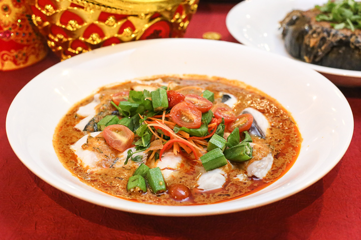 Spice Brasserie CNY Steamed Sea Bass Fillet With Nyonya Sauce