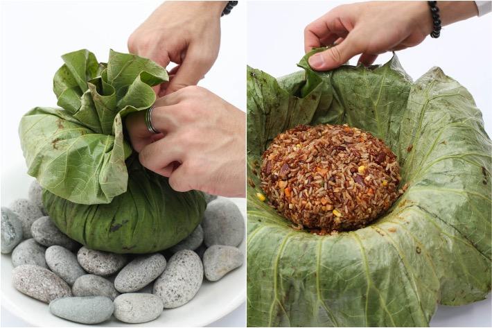 TungLok Vegetarian Brown Rice Collage