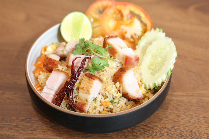 Baan Ying Pork Belly Fried Rice With Salted Egg
